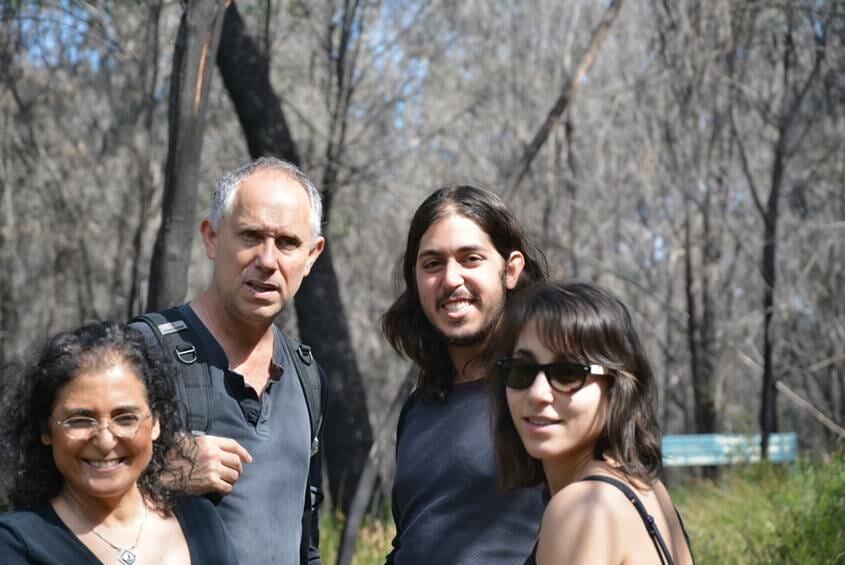 Baras family hiking