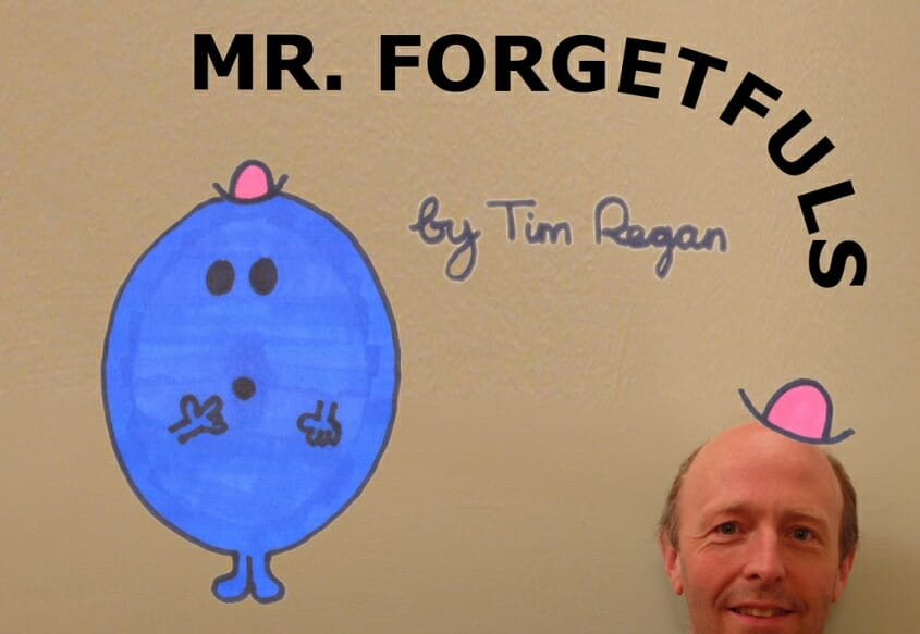 Mr. Forgetfuls and author Tim Regan