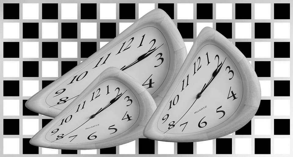 3 warped clocks