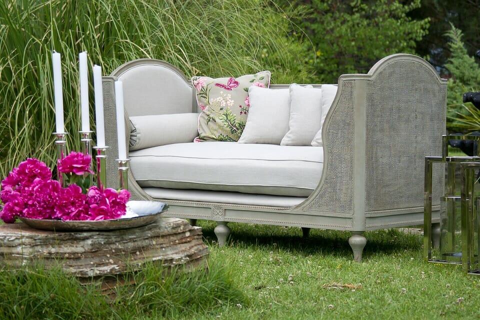 Staycation: luxury lounge setup in the backyard