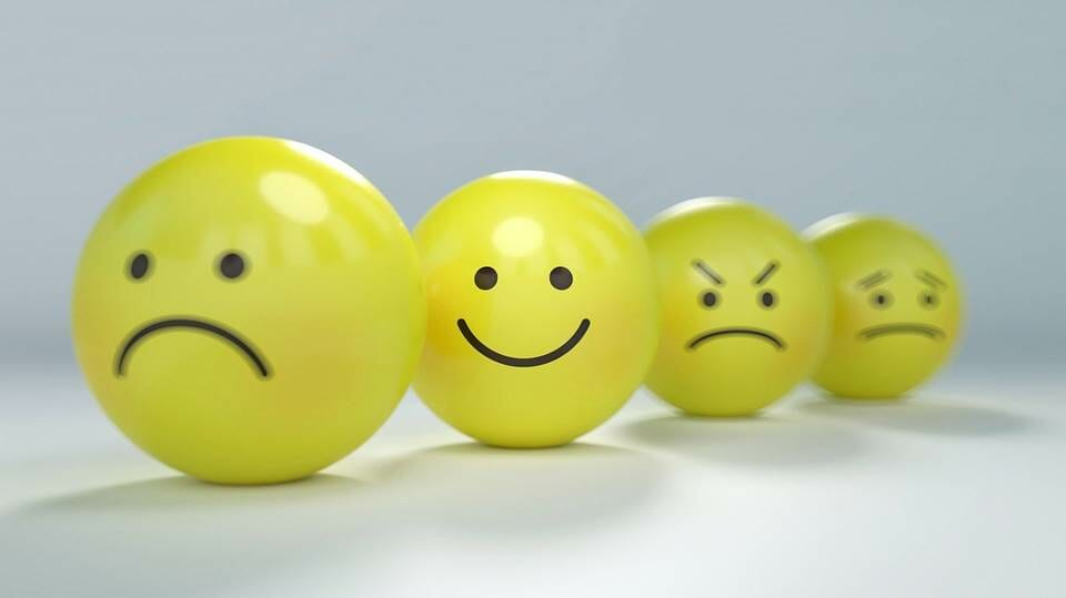 3 negative emotions and a smile