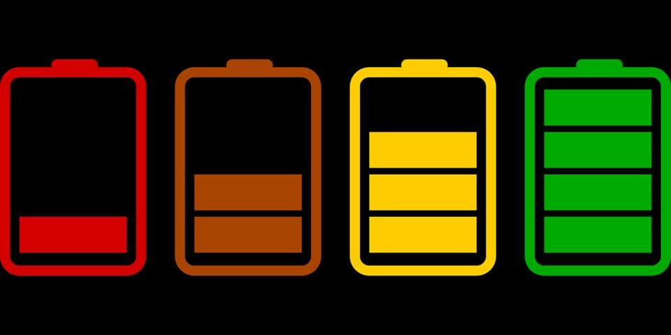 Batteries at different charge levels