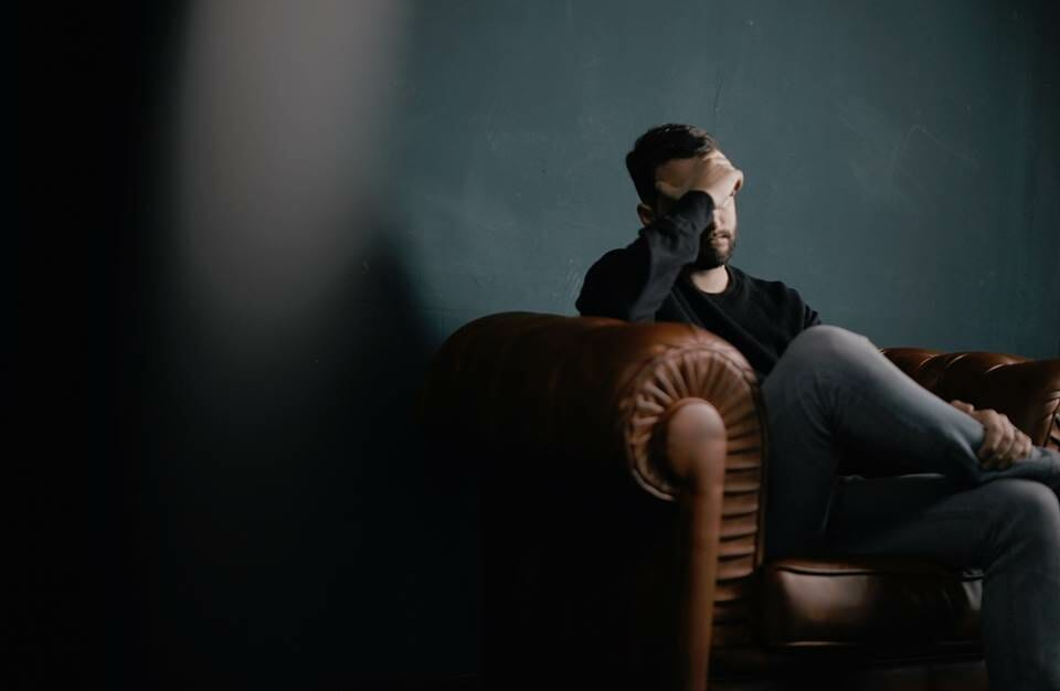 Man sitting in resentment